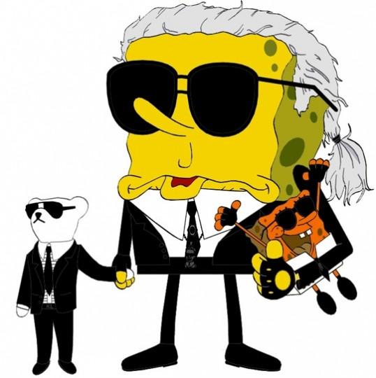 Bob-esponja-Karl-Lagerfeld-modaddiction