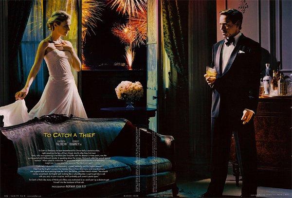Hitchcock-hollywood-homage-homenaje-vanity-faire-modaddiction-moda-fashion-cine-cinema-culture-cultura-estrellas-famosos-Atrapa-a-un-ladrón-Gwyneth-Paltrow-Robert-Downey-Jr.