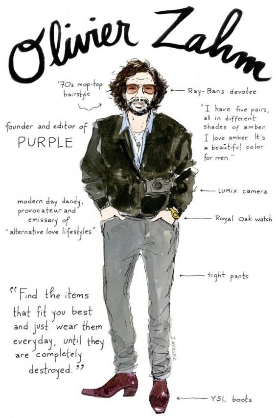 Joana-Avillez-top-fashion-editors-illustrations-modaddiction-ilustraciones-redactores-moda-fashion-trends-tendencias-olivier-zahm-purple