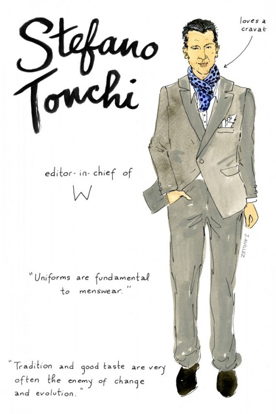 Joana-Avillez-top-fashion-editors-illustrations-modaddiction-ilustraciones-redactores-moda-fashion-trends-tendencias-stefano-tonchi-w-magazine