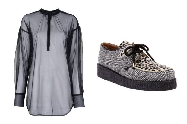 combinacion-blusa-zapatos-shirt-shoes-modaddiction-moda-fashion-mujer-trends-tendencias-farfetch.com-a.f.-vandevorst-b-store-underground