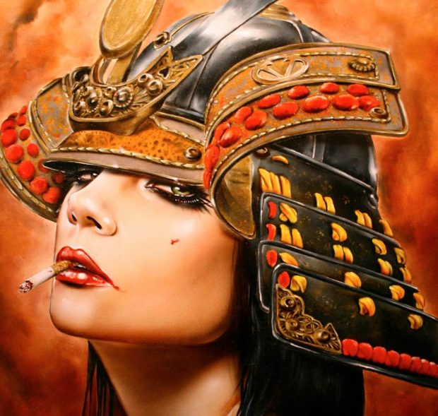 viveros-artista-mujer-cigarro-artist-women-cigarretes-brian-viveros-culture-cultura-painting-modaddiction-3