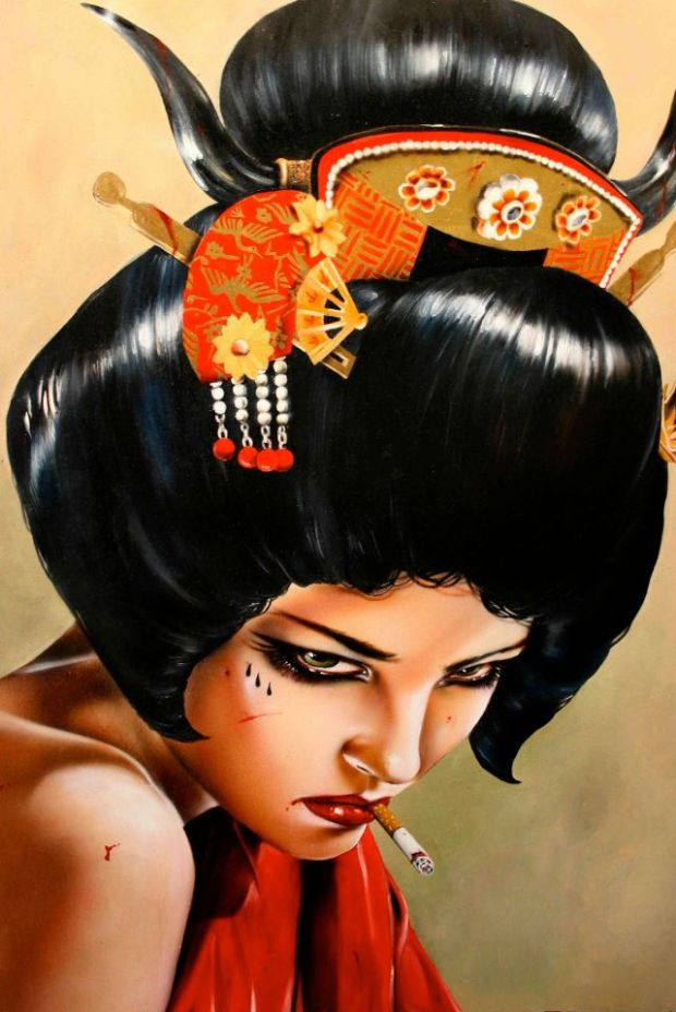 viveros-artista-mujer-cigarro-artist-women-cigarretes-brian-viveros-culture-cultura-painting-modaddiction-5