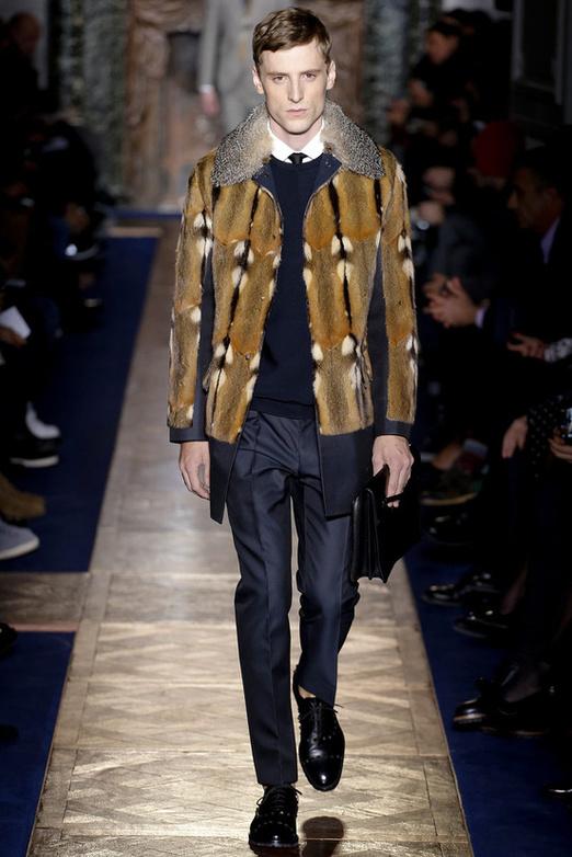 fashion-week-men-man-semana-moda-menswear-hombre-paris-modaddiction-otono-invierno-2013-2014-fall-winter-moda-fashion-trends-tendencias-desfile-catwalk-piel-valentino