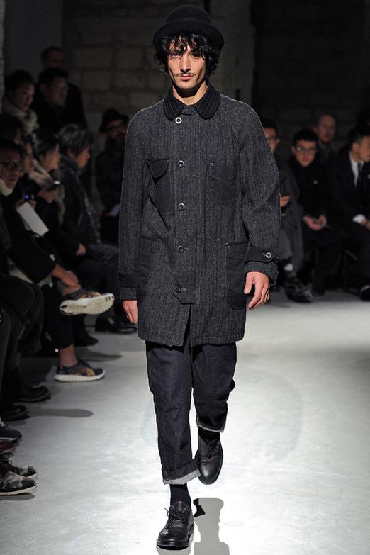 fashion-week-men-man-semana-moda-menswear-hombre-paris-modaddiction-otono-invierno-2013-2014-fall-winter-moda-fashion-trends-tendencias-desfile-catwalk-sombrero-hat-junya-wanatabe