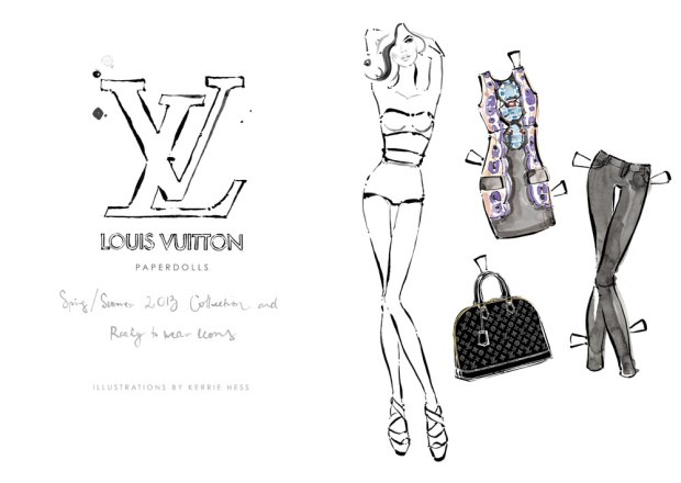 louis-vuitton-paper-dolls-Kim Hersov-Kerrie-Hess-papel-corte-pega-modaddiction-ilustraciones-ilustradora-illustrations-illustrator-moda-fashion-trends-tendencias-design-diseno-1