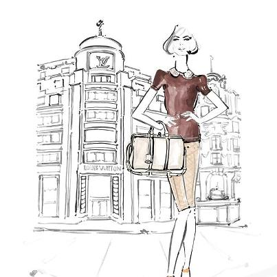 louis-vuitton-paper-dolls-Kim Hersov-Kerrie-Hess-papel-corte-pega-modaddiction-ilustraciones-ilustradora-illustrations-illustrator-moda-fashion-trends-tendencias-design-diseno-3