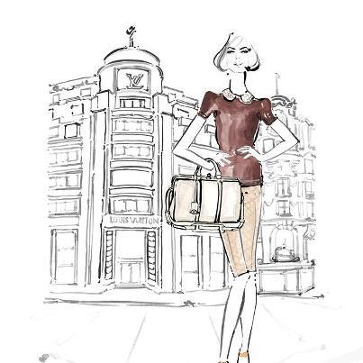 louis-vuitton-paper-dolls-Kim Hersov-Kerrie-Hess-papel-corte-pega-modaddiction-ilustraciones-ilustradora-illustrations-illustrator-moda-fashion-trends-tendencias-design-diseno-3