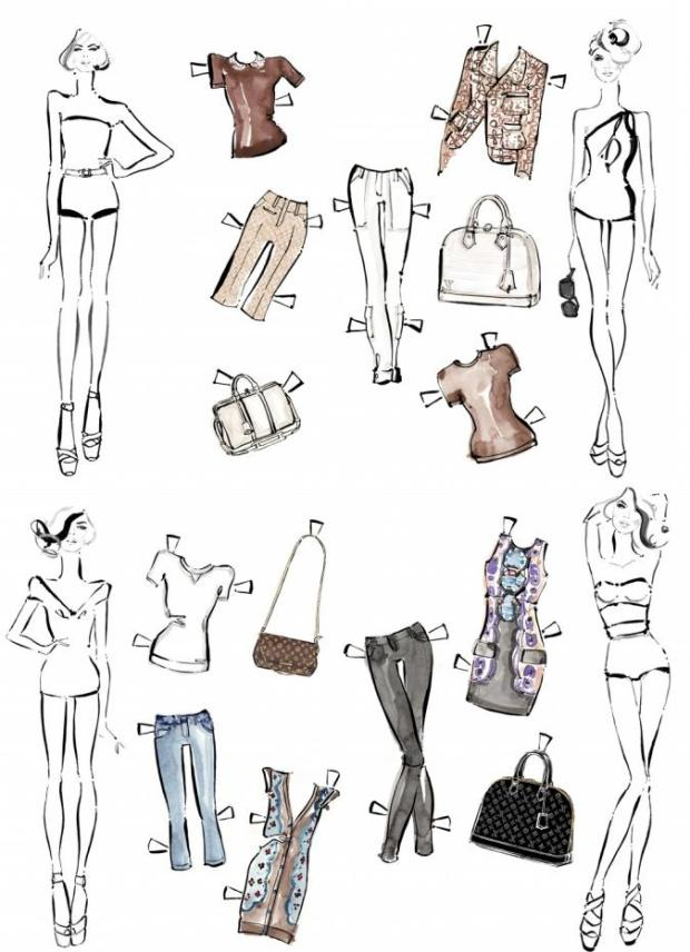 louis-vuitton-paper-dolls-Kim Hersov-Kerrie-Hess-papel-corte-pega-modaddiction-ilustraciones-ilustradora-illustrations-illustrator-moda-fashion-trends-tendencias-design-diseno-4