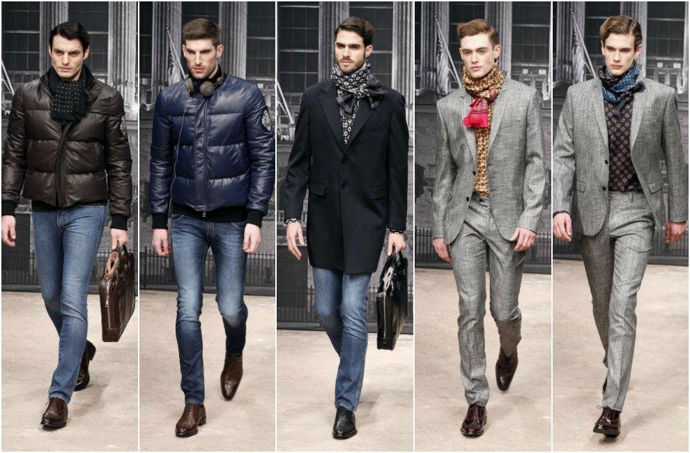bufanda o fular para hombre. semana_moda_masculina_milan_giorgio_armani_rocco_barocco_enrico_coveri_dsquared2_fashion_trends_men_modaddiction