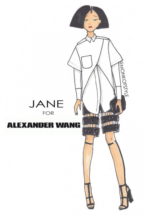 the-style-monk-jerome-le-maan-ilustraciones-illustrations-modaddiction-primavera-verano-2013-spring-summer-2013-moda-fashion-manga-design-diseno-jane-alexander-wang
