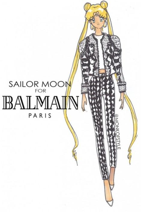 the-style-monk-jerome-le-maan-ilustraciones-illustrations-modaddiction-primavera-verano-2013-spring-summer-2013-moda-fashion-manga-design-diseno-sailor-moon-balmain