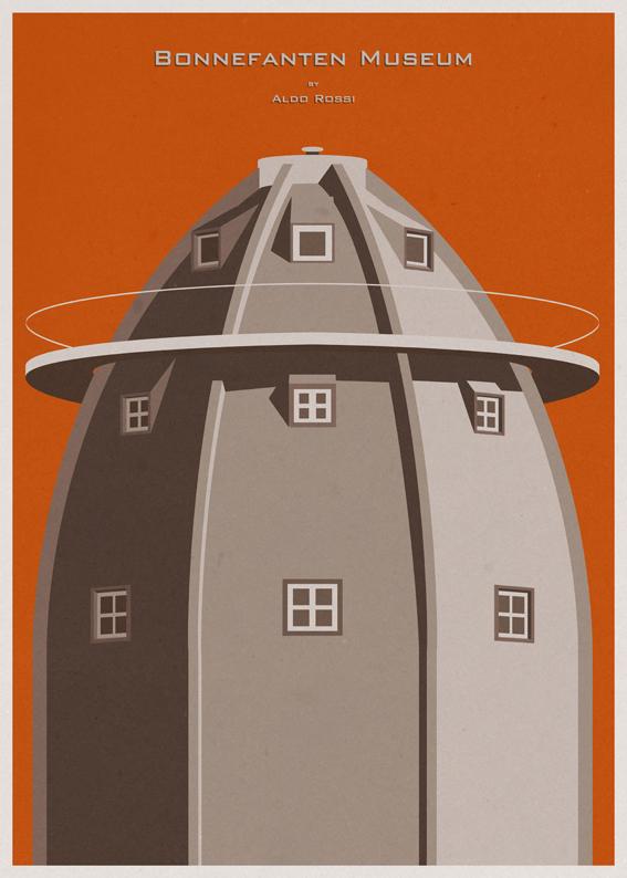André-chiote-arquitecta-ilustracion-architecture-illustration-modaddiction-arte-artista-art-artist-minimalista-posters-carteles-culture-cultura-design-diseno-aldo-rossi-paises-bajos