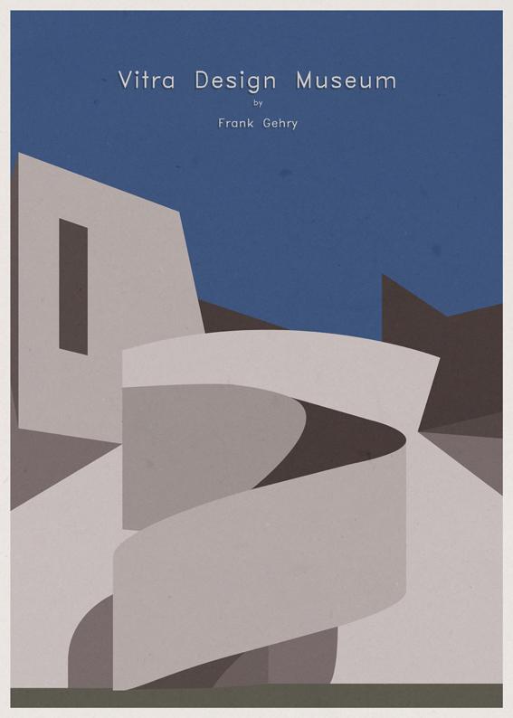 André-chiote-arquitecta-ilustracion-architecture-illustration-modaddiction-arte-artista-art-artist-minimalista-posters-carteles-culture-cultura-design-diseno-frank-gehry-alemania-germany