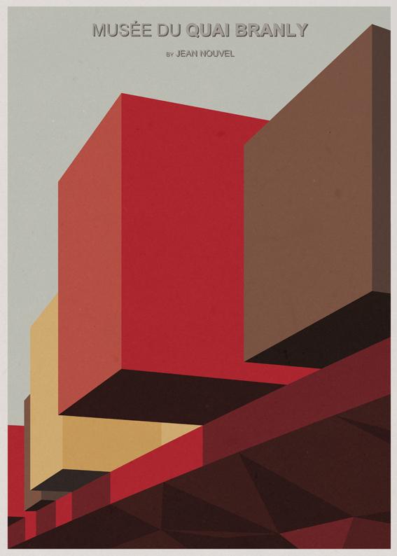 André-chiote-arquitecta-ilustracion-architecture-illustration-modaddiction-arte-artista-art-artist-minimalista-posters-carteles-culture-cultura-design-diseno-jean-nouvel-paris-francia-france