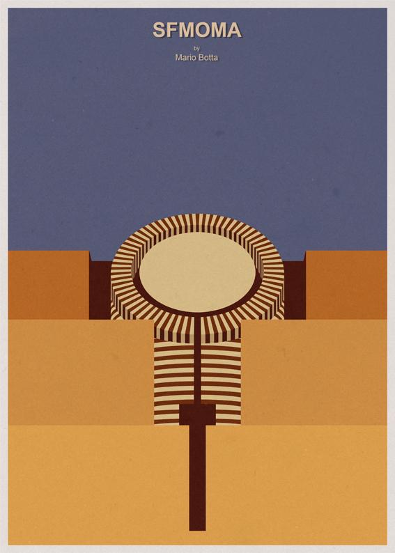 André-chiote-arquitecta-ilustracion-architecture-illustration-modaddiction-arte-artista-art-artist-minimalista-posters-carteles-culture-cultura-design-diseno-mario-botta-san-francisco