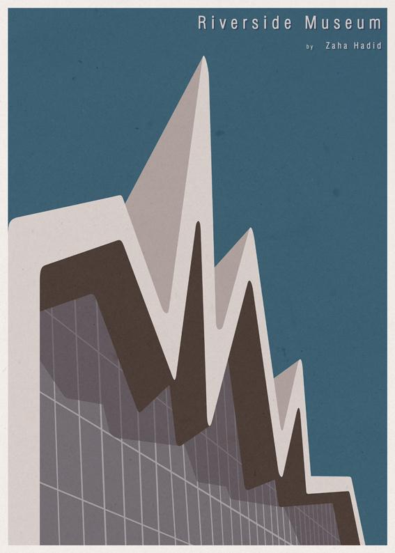 André-chiote-arquitecta-ilustracion-architecture-illustration-modaddiction-arte-artista-art-artist-minimalista-posters-carteles-culture-cultura-design-diseno-zaha-hadid-escocia-scotland