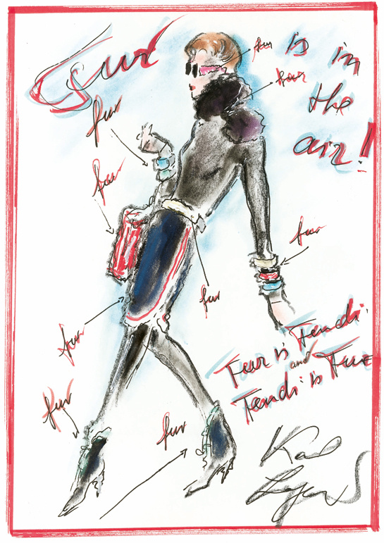ilustraciones-disenadores-illustrations-designers-boceto-design-diseno-modaddiction-coleccion-collection-moda-fashion-trends-tendencias-karl-lagerfeld-fendi