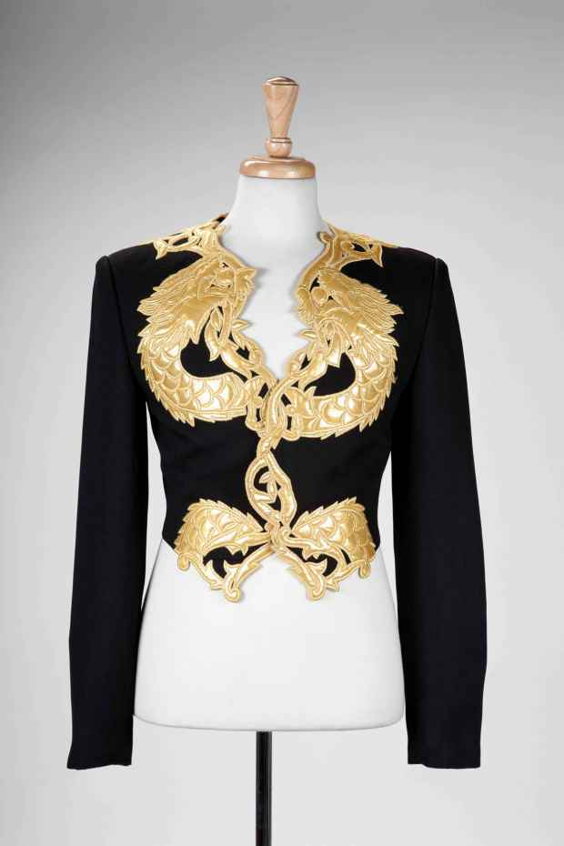 File photo of the clothes that Michael Jackson wore when he met with Nelson Mandela
