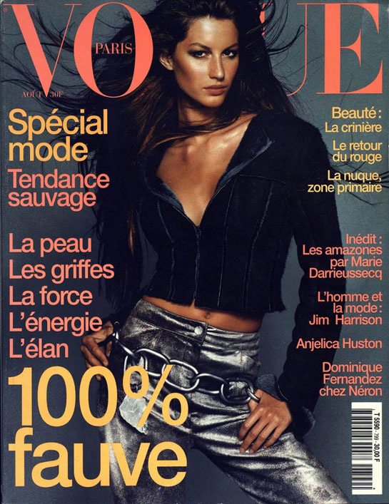 vogue-paris-revista-magazine-primera-portada-first-cover-girl-it-girl-fotografo-photographer-modaddiction-model-modelo-estilo-style-vintage-retro-Gisele-Bündchen