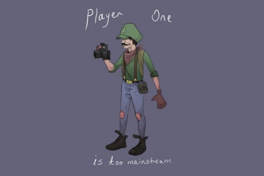 sam-milham-super-mario-ilustracion-illustration-estilo-hipster-style-modaddiction-juego-video-video-game-moda-fashion-culture-cultura-trends-tendencias-hipster-luigi