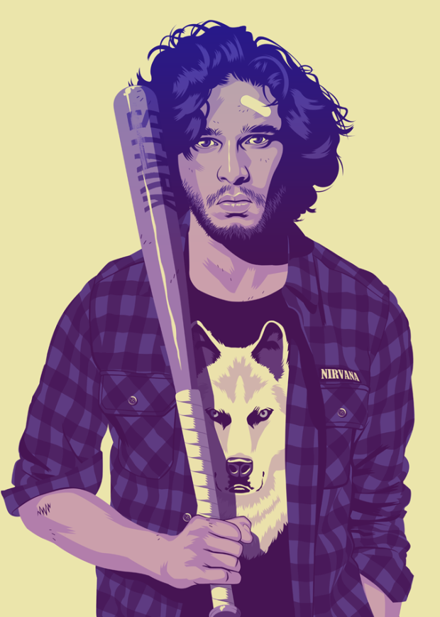 game-of-thrones-characters-hipsters-90's-1990-nineties-juegos-de-tronos-personajes-grunge-noventa-modaddiction-trends-tendencias-tv-serie-show-moda-fashion-jon-snow