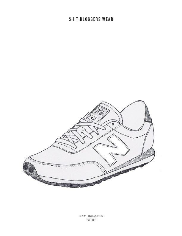 New Balance Shoes Sketch