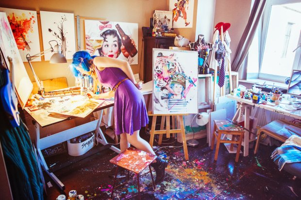 lora-zombie-art-grunge-contracultural-russian-artist-paints-acuarelas-modaddiction