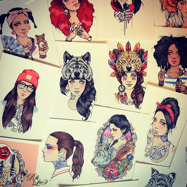 rik-lee-illustration-ilustraciones-art-arte-paints-tattoo-melbourne-modaddiction