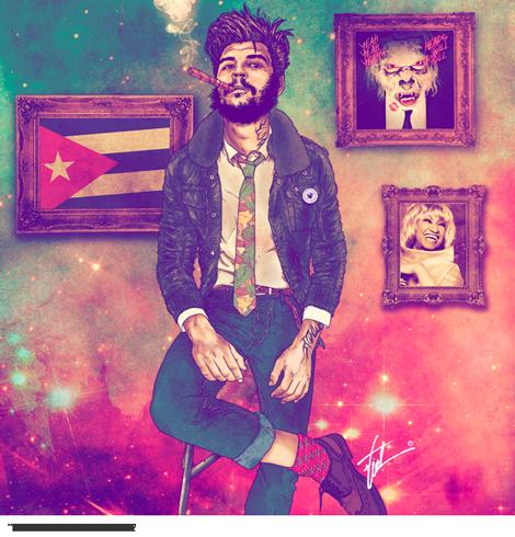 artista-chileno-fab-ciraolo-ilustraciones-hipster-cleopatra-frida-kahlo-salvador-dali-iconos-popart-modaddiction-7