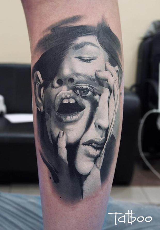 Tatuajes hiperrealistas + Valentina Ryabova