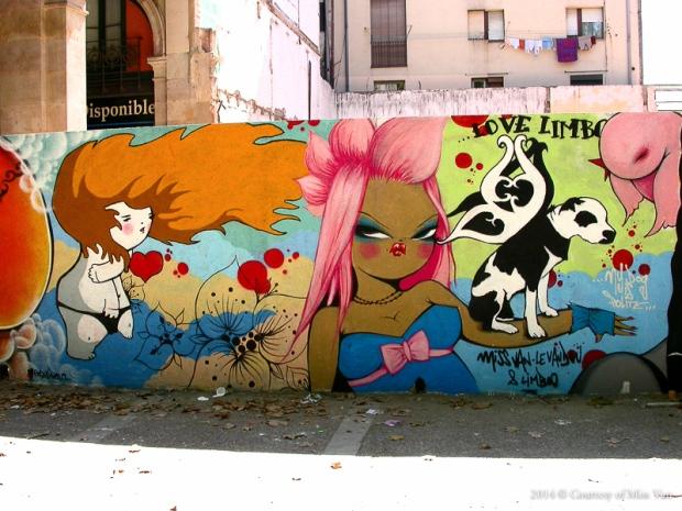 Miss Van y la sensualidad de sus graffitis: Las Poupees