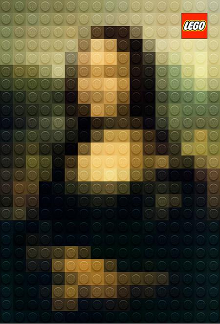 Lego art Mona Lisa